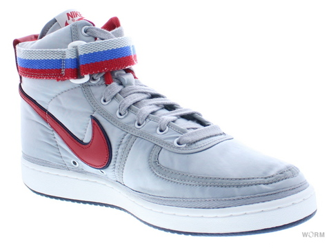 【US6】NIKE VANDAL HIGH SUPREME QS ah8652-001 metallic silver/university red