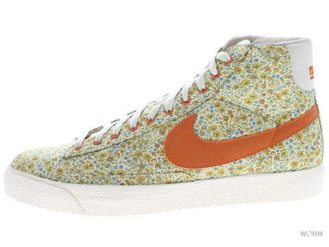 【29cm】 NIKE WMNS BLAZER HI PREMIUM 317432-181 natural/solar orange