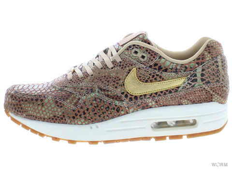 "【26cm】NIKE WMNS AIR MAX 1 YOTS QS ""YEAR OF THE SNAKE"" 598218-200 linen/metallic gold-sail"