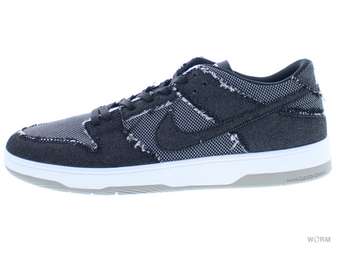 【US9】NIKE SB ZOOM DUNK LOW ELITE QS 877063-002 black/black-white-medium grey