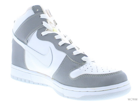 【US9.5】NIKE DUNK HIGH 305287-001 white/white-silver