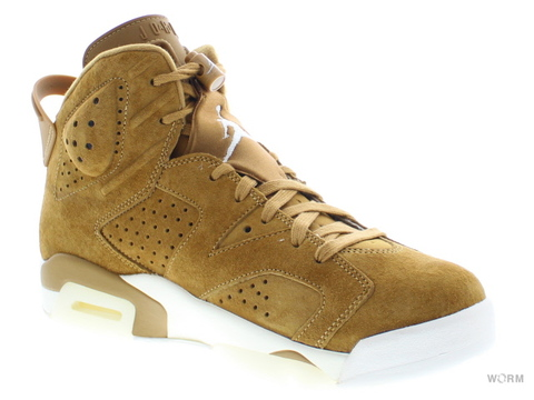 "【US9.5】AIR JORDAN 6 RETRO ""WHEAT"" 384664-705 golden harvest/golden harvest"