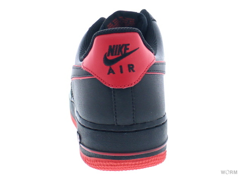 【US6.5】NIKE AIR FORCE 1 488298-002 black/black-action red