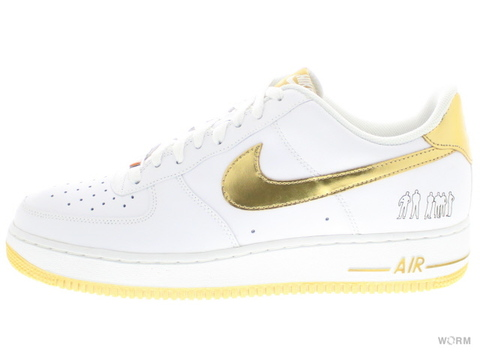 【US8.5】NIKE AIR FORCE 1 '07 (PLAYERS) 315092-171 white/met gold
