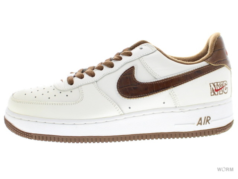 "【US8.5】NIKE AIR FORCE 1 ""NYC"" 306509-121 white/bison-varsity red"