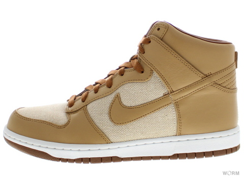 【US10】NIKE DUNK PRM HI SP 624512-101 natural/underbrush-acorn
