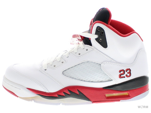 "【US10.5】AIR JORDAN 5 RETRO ""2013"" 136027-120 white/fire red-black"